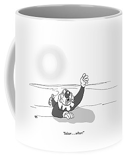 A Clown Crawls Through The Desert Coffee Mug