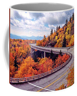 A Colorful Ride Along The Blue Ridge Parkway Coffee Mug
