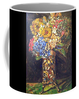 Coffee Mug featuring the painting A Colorful Sun-day by Belinda Low