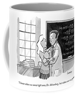 A Concerned Woman Embraces Dr. Heisenberg Coffee Mug