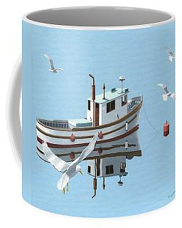 A Contemplation Of Seagulls Coffee Mug by Gary Giacomelli