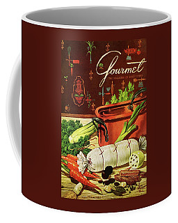 A Copper Pot And Ingredients Of Ballontine De Coffee Mug