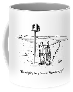 A Couple Search For Their Car At A Parking Lot Coffee Mug