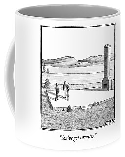 A Couple Stand In An Empty House Frame Coffee Mug