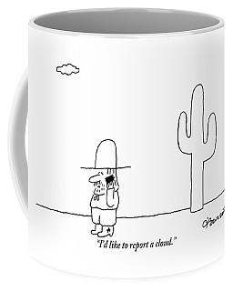 A Cowboy Talks On A Cell Phone In A Desert Coffee Mug