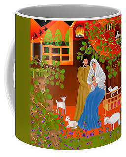 A Cradle In Bethlehem Coffee Mug by Latha Gokuldas Panicker