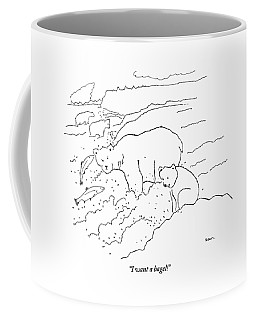 A Cub Polar Bear Exclaims While Family Hunts Coffee Mug