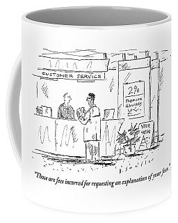 A Customer Service Representative Speaks To A Man Coffee Mug