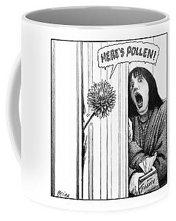 A Dandelion Pokes Into A Door Coffee Mug