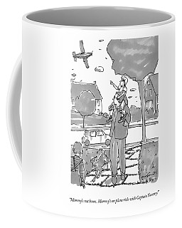 A Daughter Sits On Her Father's Shoulders Coffee Mug