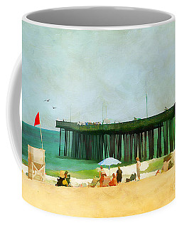 A Day At The Beach Coffee Mug by Darren Fisher