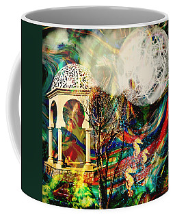 Coffee Mug featuring the mixed media A Day In The Park by Ally  White