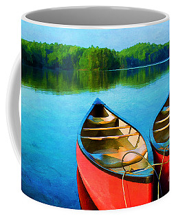 A Day On The Lake Coffee Mug by Darren Fisher