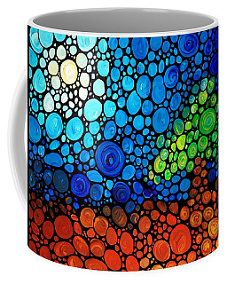 A Day To Remember - Mosaic Landscape By Sharon Cummings Coffee Mug
