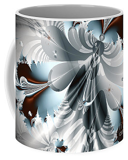 A Deeper Reflection Abstract Art Prints Coffee Mug by Valerie Garner