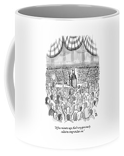A Devil Speaking At A Massive Political Rally Coffee Mug