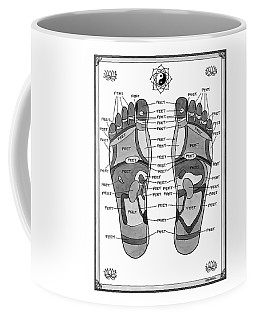 A Diagram Of Parts Of The Foot Coffee Mug