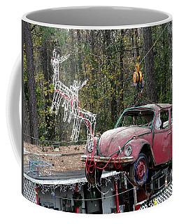 Coffee Mug featuring the photograph A Difference Sleigh  by Donna Brown