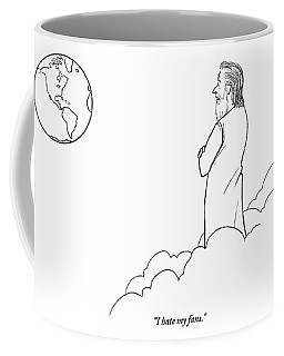 A Disappointed-looking God Remarks To An Angel Coffee Mug