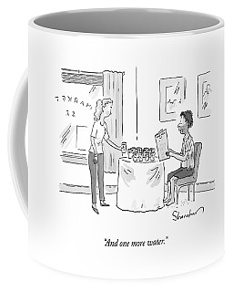 A Disheveled Man In A Restaurant Orders A Dozen Coffee Mug