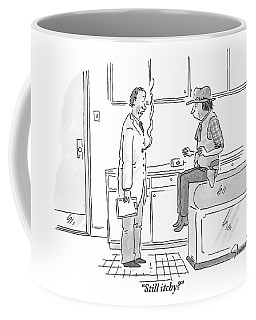 A Doctor Addresses His Patient Who Is A Cowboy Coffee Mug