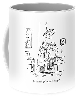 A Doctor Examines A Satanic Mark On A Patient's Coffee Mug