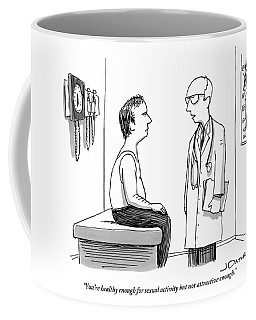 A Doctor Explains To His Male Patient Coffee Mug