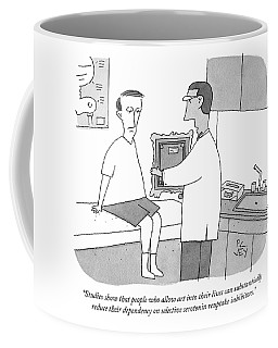 A Doctor Hands A Patient A Framed Painting Coffee Mug