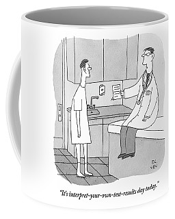 A Doctor Sits Where The Patient Normally Coffee Mug