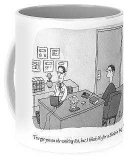 A Doctor Speaks To A Patient In His Office Coffee Mug