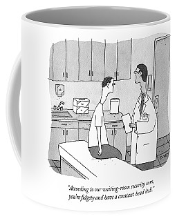 A Doctor Talking To His Patient Coffee Mug