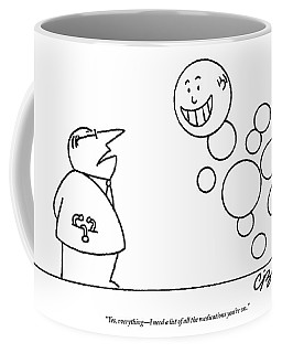 A Doctor Talks To A Man Who Is Made Of Happy Coffee Mug