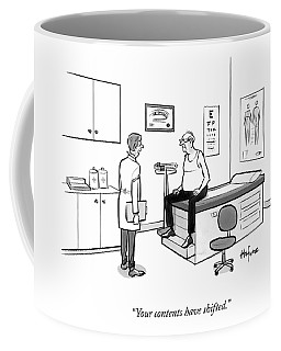 A Doctor Talks To An Old Man With A Gut Coffee Mug