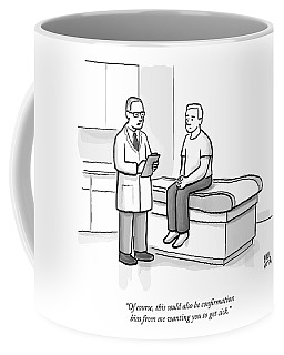 A Doctor Talks To His Patient Coffee Mug