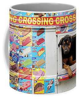 A Dog Hangs Out Of An Icecream Truck Coffee Mug