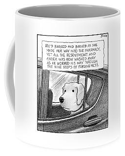 A Dog Looks Out Of A Car Window.  Title: He'd Coffee Mug