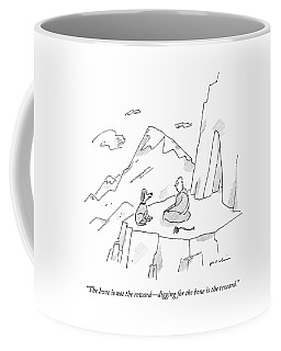 A Dog Speaks To A Guru On Top Of A Mountain Coffee Mug