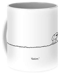 A Dog Speaks To A Man Coffee Mug