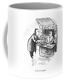A Dry Newspaper Coffee Mug