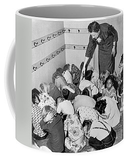 A Duck And Cover Exercise In A Kindergarten Class In 1954 Coffee Mug