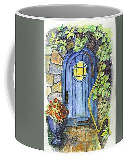 Coffee Mug featuring the painting A Fairys Door by Carol Wisniewski