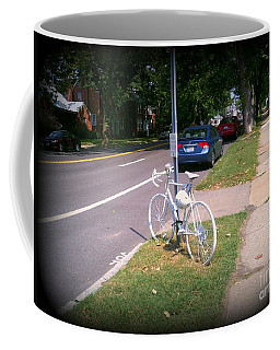A Fallen Cyclist Coffee Mug