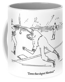 A Falling Baseball Player Fails To Catch A Ball Coffee Mug