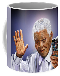 A Farewell Selfie To The World - Nelson Mandela  Coffee Mug