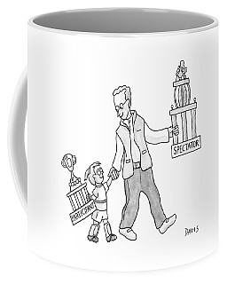 A Father And Daughter Both Walk Coffee Mug