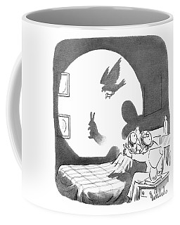 A Father And Daughter Make Shadow Puppets Coffee Mug