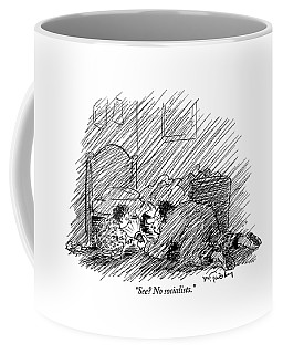 A Father And His Son Are Seen Looking Coffee Mug