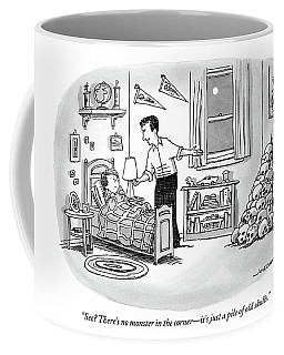 A Father Points To A Pile Of Skulls In The Corner Coffee Mug