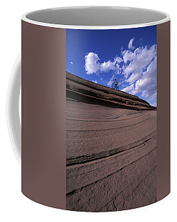 A Female Mountain Biker Mountain Biking Coffee Mug
