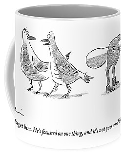 A Female Pigeon Consoles Another Female Pigeon Coffee Mug
